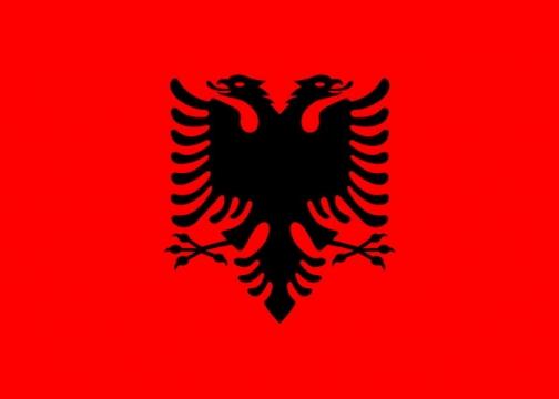 标准版阿尔巴尼亚国旗图片素材