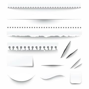 各种纸张的撕纸划痕效果图片png免抠素材