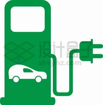 绿色汽车充电桩标志符号0947365png图片素材
