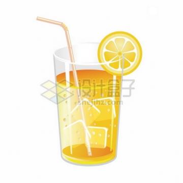 玻璃杯中的橙汁冷饮836026png图片素材