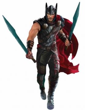 电影中拿着双手剑的雷神托尔png免抠图片素材