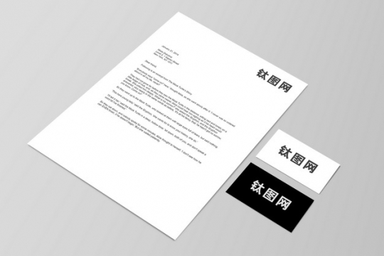 企业公司合同文件和名片展示样机207942图片素材