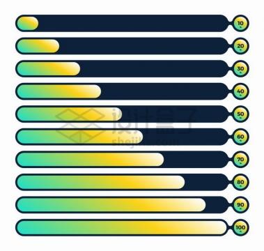 创意流体进度条加载设计png图片免抠矢量素材