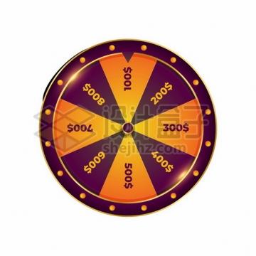 深紫色边框抽奖大转盘660888png图片素材