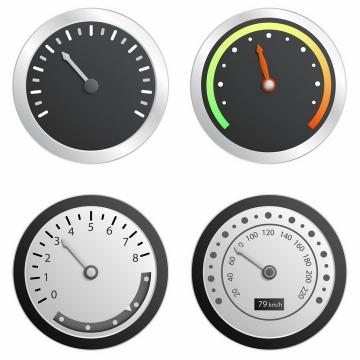 逼真的汽车速度表仪表盘档位表png图片免抠矢量素材