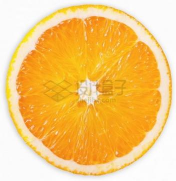 橙子脐橙横切面黄色果肉png图片素材