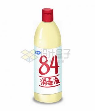 一瓶84消毒液手绘插画1658432png免抠图片素材