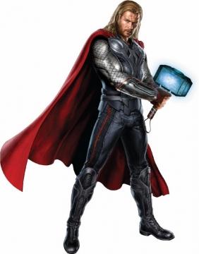 双手拿雷神之锤的雷神托尔466291png免抠图片素材