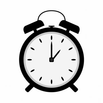 黑色的闹钟时钟图案288678免抠图片素材