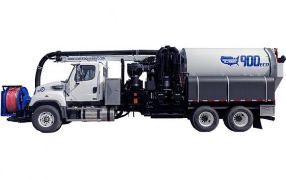 槽罐车油罐车危险品运输卡车特种运输车侧视图196298png图片素材