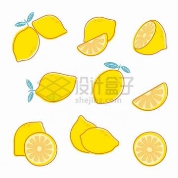 各种黄色的柠檬美味水果png图片素材