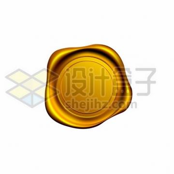 金色的火漆封印910588png免抠图片素材