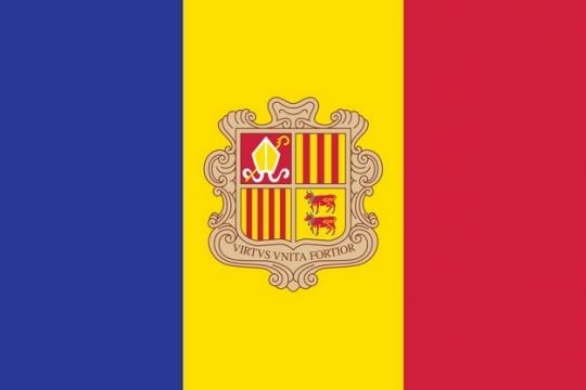 标准版安道尔国旗图片素材