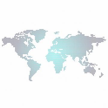 蓝色渐变色风格点阵世界地图971709png图片素材