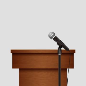 木制风格演讲台图片免抠素材