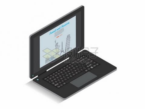 黑色的笔记本电脑237778png图片素材