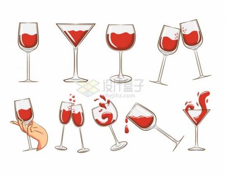 各种彩绘红酒葡萄酒美酒959839png图片素材