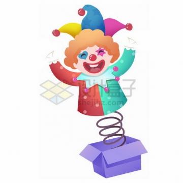 盒子里的卡通小丑玩偶376284png免抠图片素材