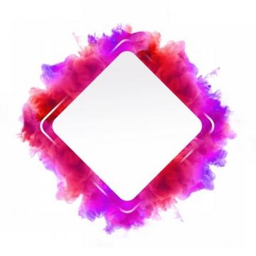 抽象红色烟雾环绕的菱形边框文本框信息框标题框301552png图片免抠素材