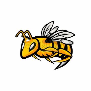 卡通大黄蜂马蜂logo设计方案png图片免抠矢量素材