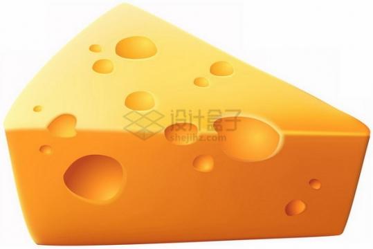 逼真的三角形奶酪起司png图片素材