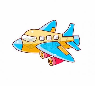 可爱的卡通飞机948844png图片素材
