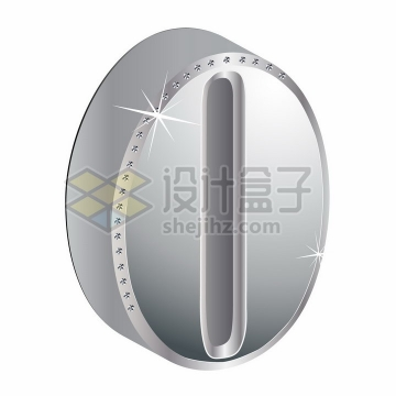 3D金属银色镶钻立体数字0png图片素材