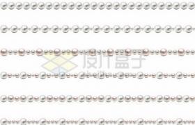 6款珍珠项链分隔线条934744png矢量图片素材