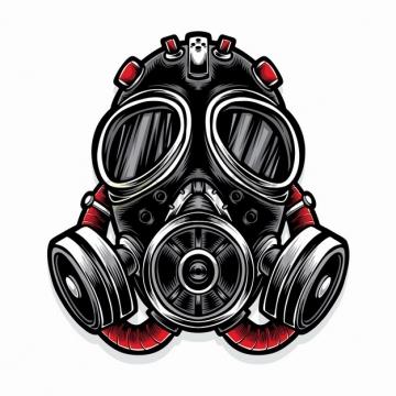 超酷的防毒面具防护面罩彩绘插画png图片素材