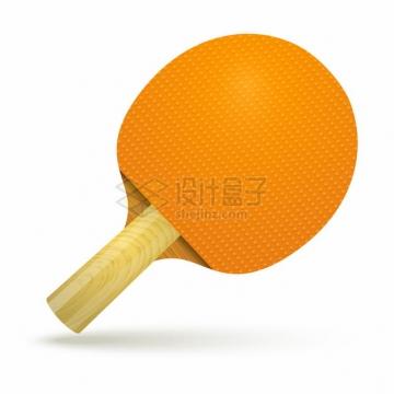 黄色的乒乓球拍537959png图片素材