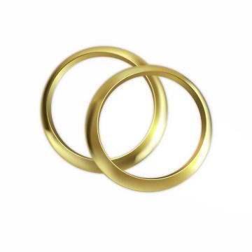 两只光滑的结婚黄金戒指婚礼用品png图片免抠矢量素材