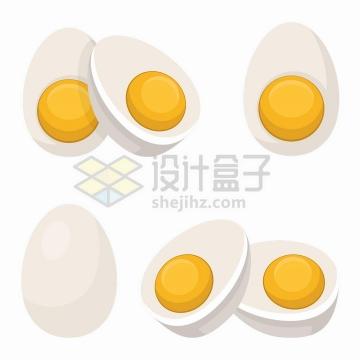 各种切开的煮鸡蛋美味美食png图片免抠矢量素材