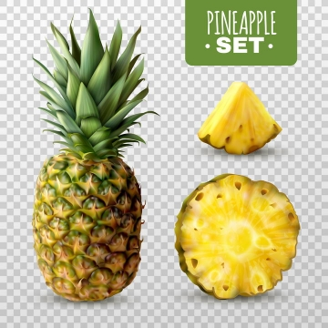 切开的菠萝美味水果图片免抠素材
