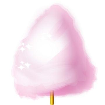 粉色的棉花糖美食零食免抠矢量图片素材