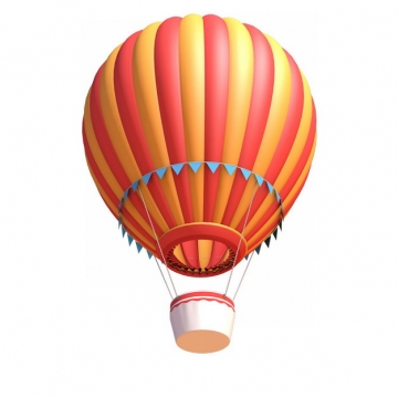 红色黄色彩色条纹热气球510440png图片素材