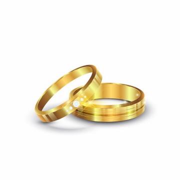 镶钻的求婚戒指结婚戒指订婚戒指png图片免抠矢量素材