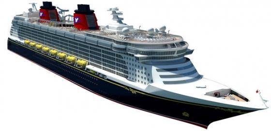 一艘游轮客轮豪华邮轮巨型轮船691296png图片免抠素材