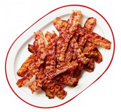 一盘子香煎培根肉654995png图片素材