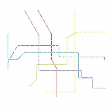 彩色线条北京地铁线路规划矢量图片855610