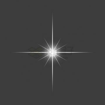白色的星光星芒光芒效果png图片素材73467