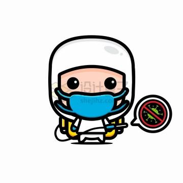 戴口罩的卡通医护人士医生png图片免抠矢量素材