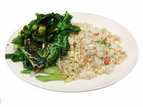 蚝油青菜和蛋炒饭464691png免抠图片素材