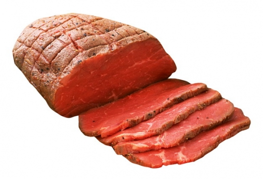 切开的一整块腌牛肉126485png图片素材