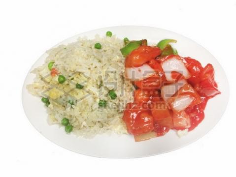 洋葱炒西红柿和蛋炒饭920918png免抠图片素材