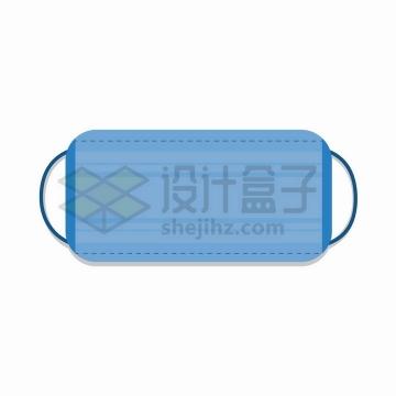 一款深蓝色的一次性医用口罩正面图png图片免抠矢量素材