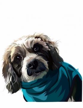 彩绘伯恩山犬宠物狗品种png图片免抠矢量素材