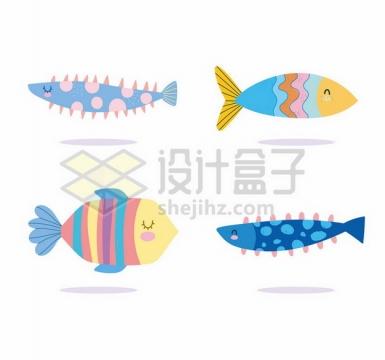 4款超可爱卡通鱼儿儿童插画144925png图片素材
