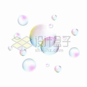 彩色肥皂泡气泡162064png图片素材