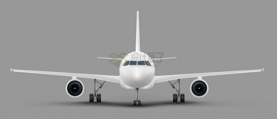 白色客机大型飞机商务机正面图1856344png图片素材