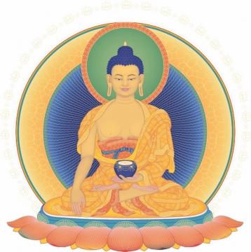佛教释迦摩尼佛祖画像png图片素材